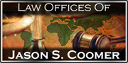 Law Offices of Jason S. Coomer homepage.